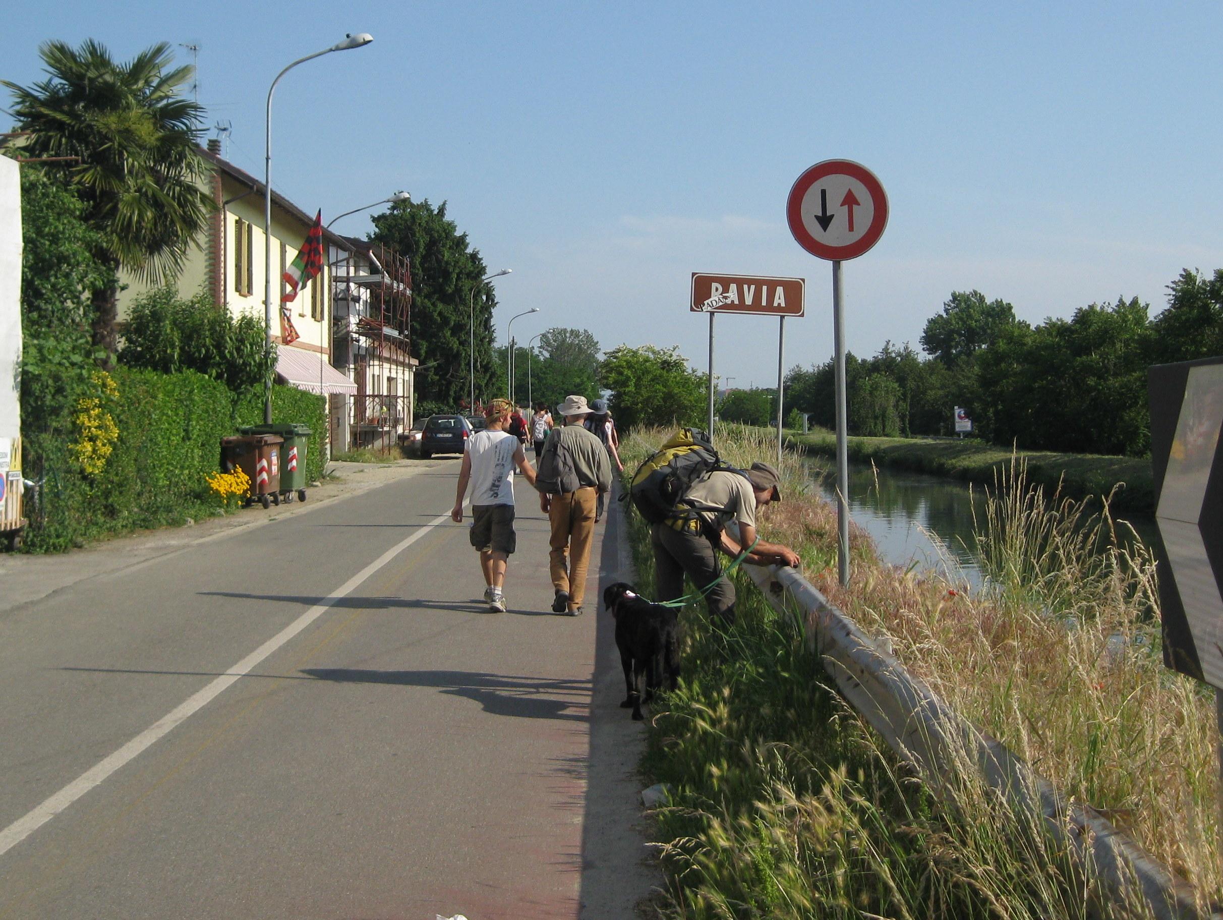 L'arrivo a Pavia