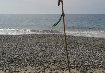 bastone in spiaggia