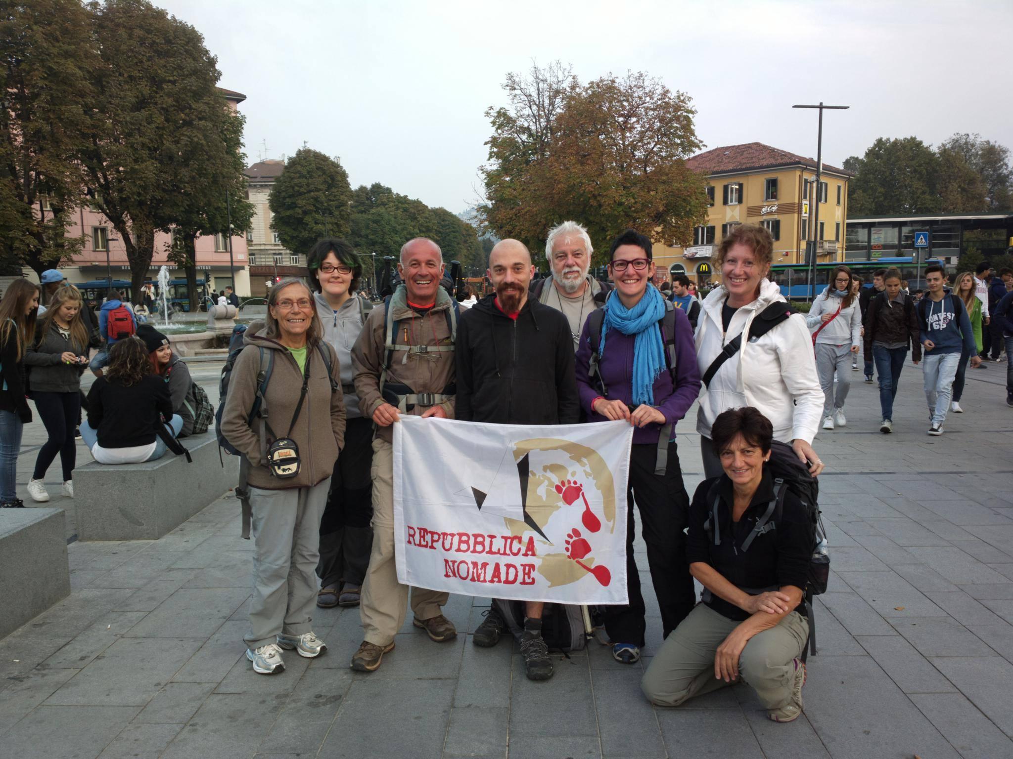 la partenza da Bergamo